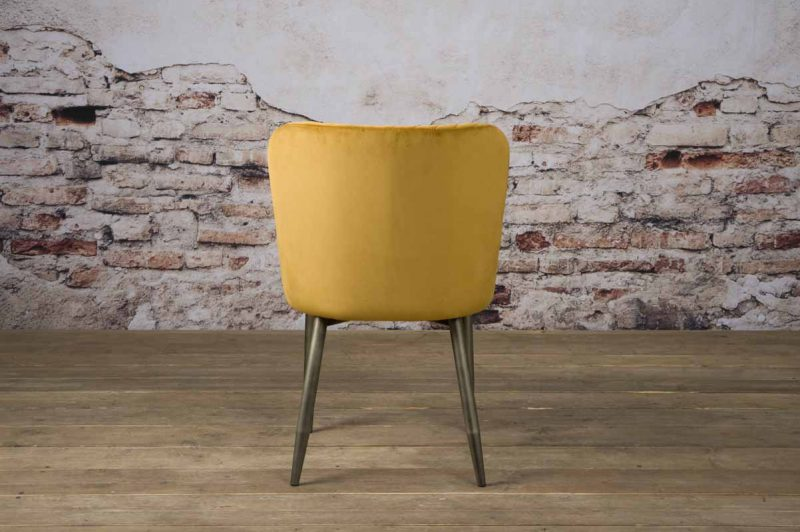 Eetkamerstoel Oledo fabric Bluvel 68 yellow Towerliving