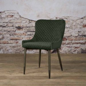 Eetkamerstoel Oledo fabric Bluvel 78 Green Towerliving