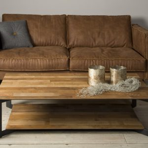 Coffee Table Pandora Staal Teakhout 135 cm Towerliving