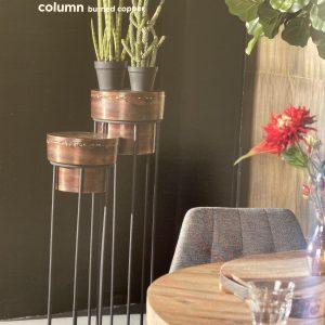 Plantenstandaards Comseta Columm Gebrand koper