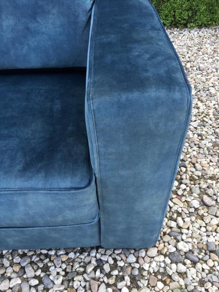 Bank Met Lounge Mammoet 1,5 Zits Velvet Aqua