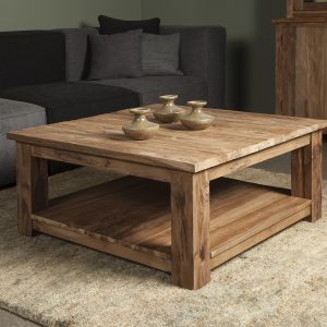 Coffeetable Lorenzo Gerecycled Teakhout 100x100cm Towerliving